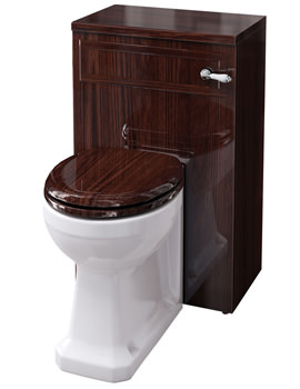 Related Burlington Mahogany WC Unit Including Concealed Cistern - F3M