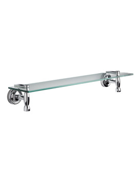Croydex Broxbourne Flexi-Fix Glass Shelf 590mm - QM491441