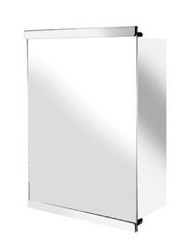 Croydex Tara Stainless Steel Single Sliding Door Mirror Cabinet