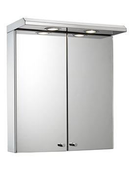 of croydex shire double door illuminated cabinet with shaver socket