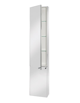 Croydex Nile Stainless Steel Tall Cabinet - WC796005