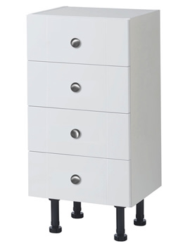 Balterley White Gloss Shaker 400mm Drawer Unit With Legs -BYFWS4D