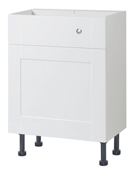 Balterley White Gloss Shaker 600mm Cistern Base Cabinet With Legs