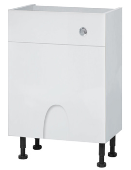 Balterley Compact Euro White Gloss 600mm Cistern Base Cabinet With Legs