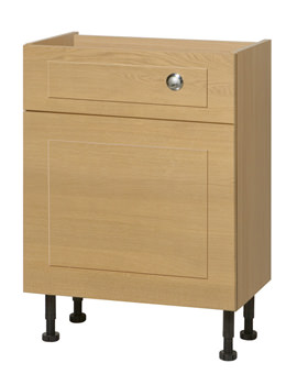 Image of Balterley Oak 700mm Cistern Base Cabinet With Legs