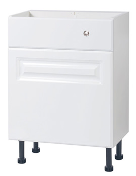 Related Balterley White Classic 600mm Cistern Base Cabinet With Legs