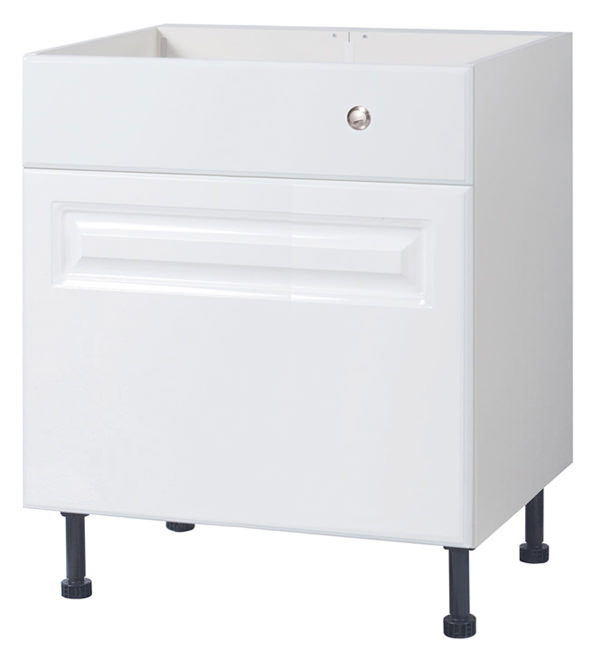 Large Image of Balterley White Classic 700mm Cistern Base Cabinet With Legs