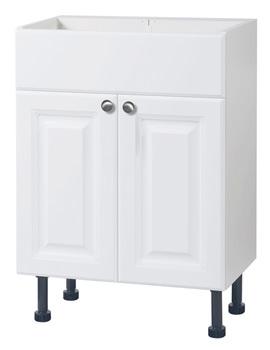 Balterley White Classic 600mm Vanity Base Cabinet - BYFWC6V
