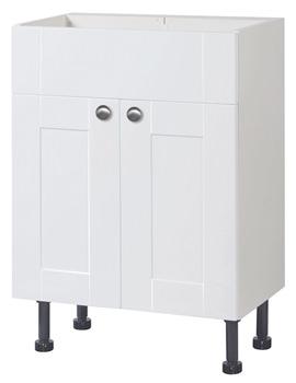 Balterley White Gloss Shaker 600mm Vanity Base Cabinet With Legs