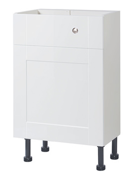 Related Balterley Compact White Gloss Shaker 500mm Cistern Base Cabinet With Legs
