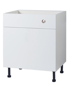 Related Balterley Euro White Gloss 700mm Cistern Base Cabinet With Legs