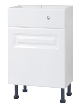 Related Balterley Compact White Classic 500mm Cistern Base Cabinet With Legs