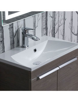 Cypher 600mm Wide Gelcoat White Basin