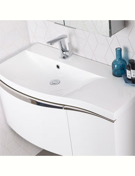 Serif 900 x 460mm Isocast Basin Left Handed