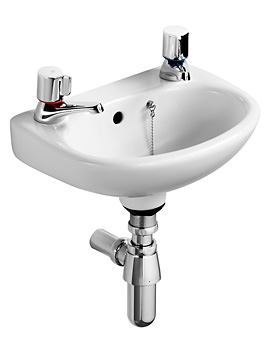 Studio 350mm Handrinse Basin With Two Tap Holes
