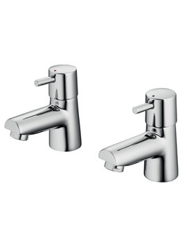 Cone 1-2 Inch Pair Of Basin Pillar Tap Chrome