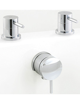 Balterley Mini Bath Overflow Filler Chrome - BY-BCPMN005O