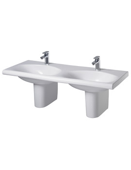 Related Ideal Standard Daylight 1300mm Double Basin White - K072901