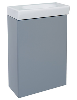 Tonic Guest Wall Hung Grey Central Basin Cabinet