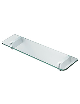 Concept 500mm Glass Shelf With Brackets - N1324AA