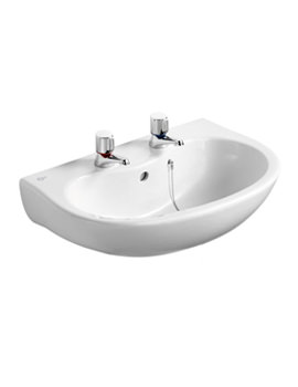 Space Projection 2 Tap Hole Wash Basin 580mm