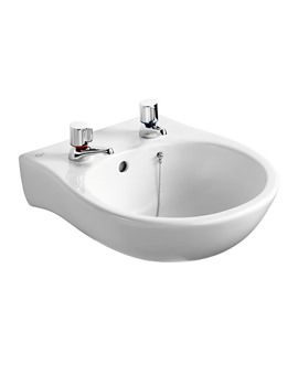 Related Ideal Standard Space Narrow 2 Tap Holes Washbasin 440mm - E6140