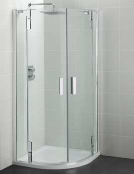 Ideal Standard Tonic Flat Top 1000mm Hinged Quadrant Shower Enclosure