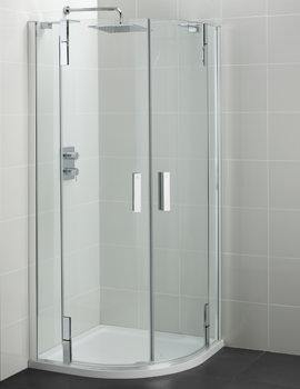 Tonic Flat Top 800mm Hinged Quadrant Shower Enclosure