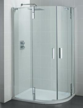 Tonic Flat Top 1000 x 800mm Right Offset Shower Quadrant
