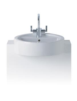 White 450mm Semi Countertop Washbasin - E001401