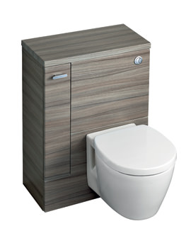 Ideal Standard Concept Space WC Unit With Left Hand Storage Cupboard Elm