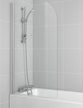 New Connect 820 x 1400mm Radius Bath Screen