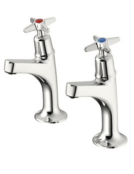 Sandringham 21 Sink Pillar Taps With Crosshead Handles