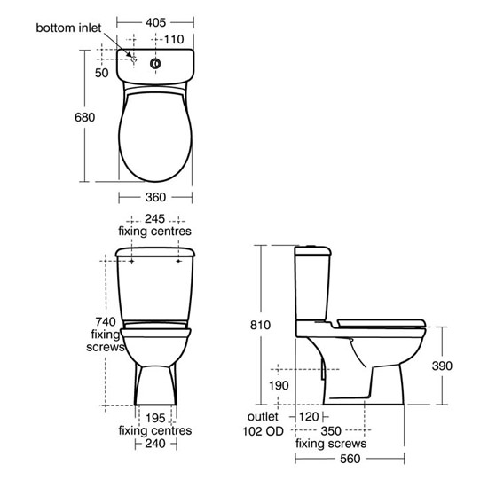 Ideal Standard Alto Plus Close Coupled Wc With Horizontal