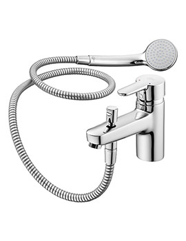 Concept 1 Hole Bath Shower Mixer Tap With Kit