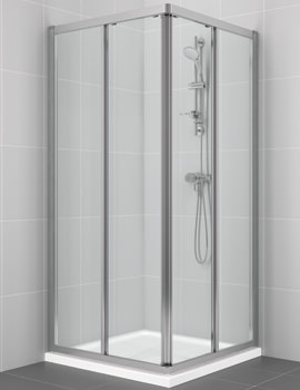 Connect 800mm Corner Entry Shower Cubicle - L6638VA