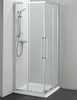 Kubo 760mm Corner Entry Shower Enclosure - T7358EO