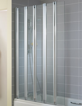New Connect 1015 x 1500mm 5 Panel Folding Bath Screen