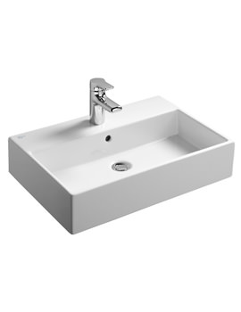 Strada 600mm Countertop Basin One Taphole - K077801