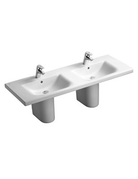 Ideal Standard Concept 1300mm 1 Tap Hole Double Vanity Basin