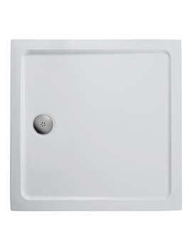 Idealite Low Profile 760mm Square Flat Top Shower Tray