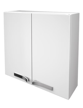 Strada 700mm Wall Mounted Storage Unit Gloss White