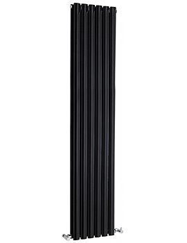 Retro 326 354 x 1800mm Vertical Designer Radiator High Gloss Black