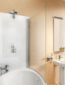 Cleargreen Ecoround Bathscreen 820 x 1450mm