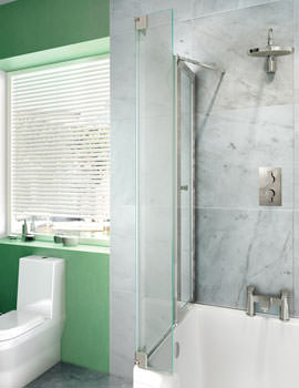 Ecosquare Left Handed Bathscreen 820 x 1450mm - BS8L