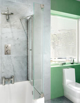 Cleargreen Ecosquare Right Handed Bathscreen 820 x 1450mm