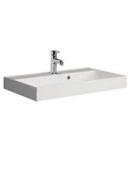 Bauhaus Design 700 x 450mm 1 Tap Hole