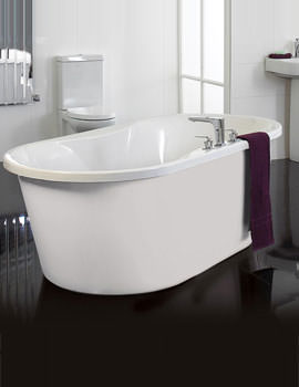 Venice Freestanding Bath With White Surround - VENWH