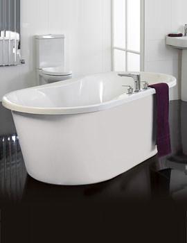 Venice Freestanding Bath With White Surround - VENWH