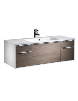 Roper Rhodes Vista 1200mm Wall Hung Unit White-Dark Elm And Basin